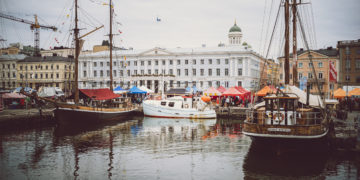 The Helsinki Baltic Herring Market floods Market Square and surrounding restaurants with delicious Baltic herring